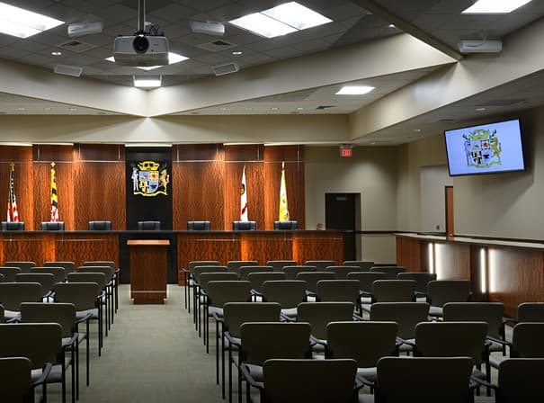 Laurel City Council interior