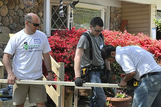 Chris Deraleau volunteers for Rebuilding Together