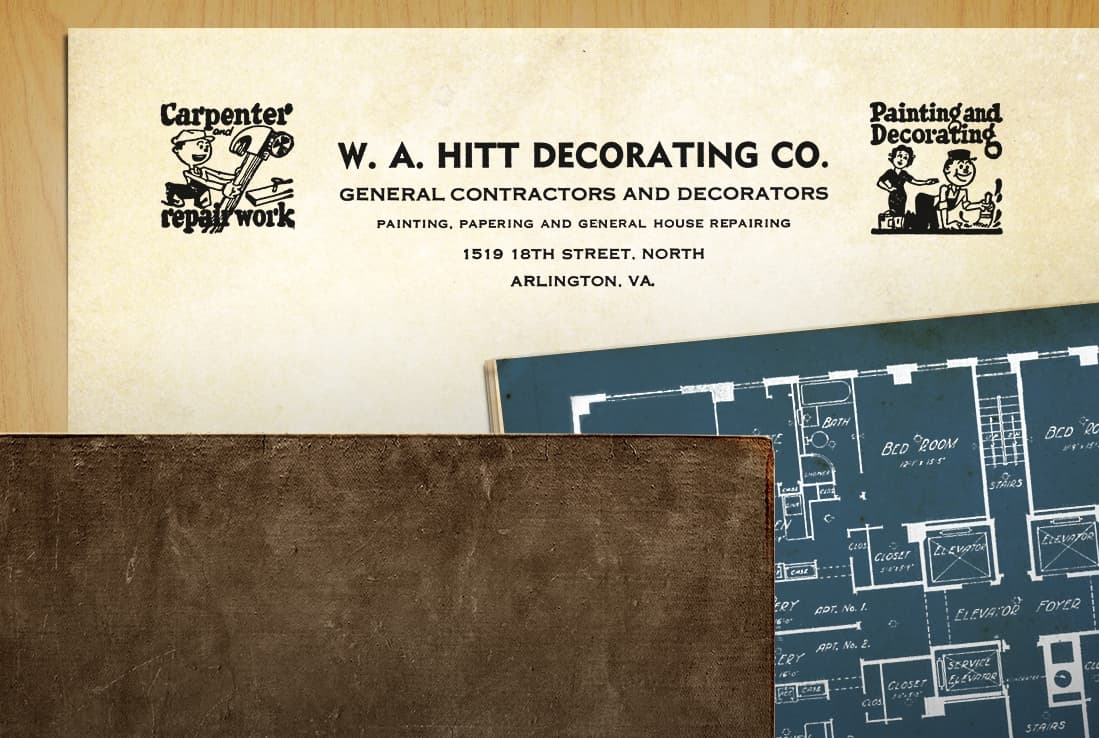 W.A. HITT Decorating Co. Letterhead